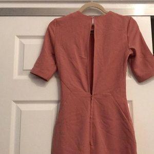 pretty dusty rose crepe dress